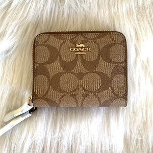 BRAND NEW coach double zip mini wallet